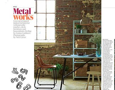 Tear sheet :Metal Works GuardianWeekend 26.07.14UK