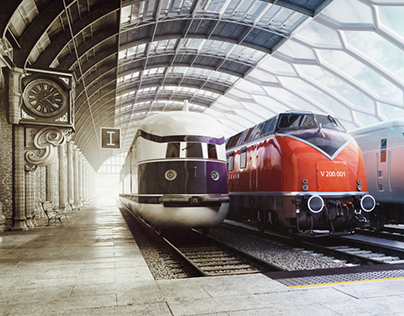 3D Backplate for Key Visual I MTU-Rail-Campaign