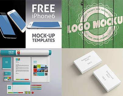 4 new & free presentation mock-up items on Dealjumbo