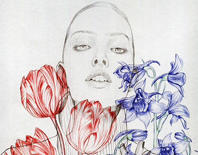 Ballpoint pen~Flowers#1