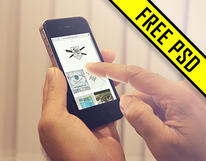 Free Photo-Real iPhone 5 PSD Mockup