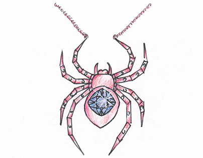 Tanzanite tarantula necklace