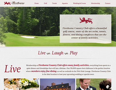 Firethorne Country Club WordPress Website