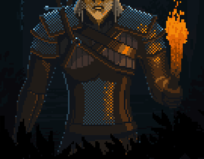 The Witcher 3 Wild Hunt Animated Pixel Fan Art On Behance