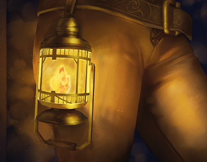 Lantern - Card Illustration