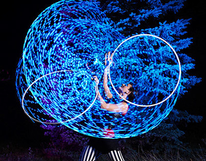 Forest LED Hoops
