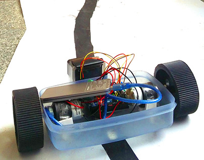 Autonomous Black Line Following Robot.
