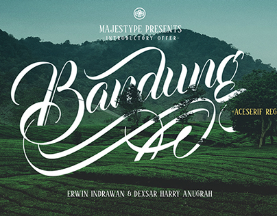 Bandung + Aceserif Font