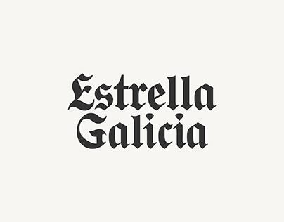 ESTRELLA GALICIA typeface