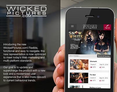 UX, UI  & Visual Design For Wicked Pictures