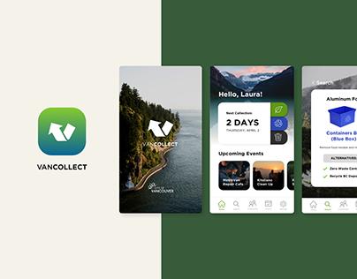 """VanCollect"" Zero Waste App: UX/UI Case Study"