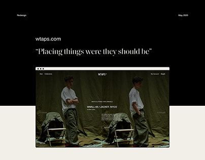 Wtaps - Interaction Design
