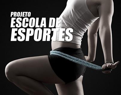 Projeto Escola de Esportes – Hardcover booklet
