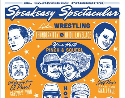 'Olde Wrestling's Speakeasy Spectacular' Poster