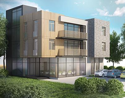 Student housing in Reno, USA - architectural design