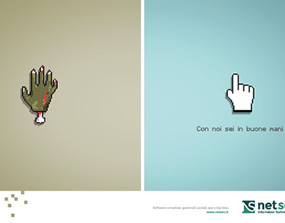 Netservice campaign: Hands