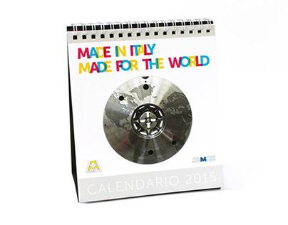 Calendario tavolo 2015 Alumat e Almax Mori