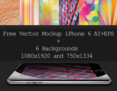 Vector Mockup iPhone 6 Ai+eps