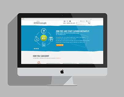 SMS Deals Website Design