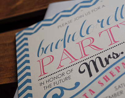 Chevron Bachelorette Invitation