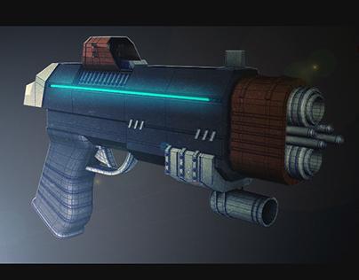 Sci-Fi Gun - Low Polygon Model