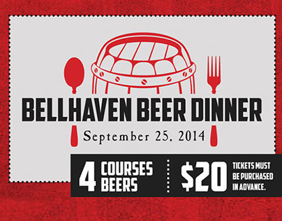 Kildare's Bellhaven Beer Dinner : Promotional Marketing