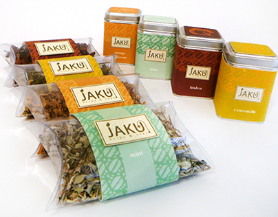 JAKU Herbs and Teas Identity and Packaging