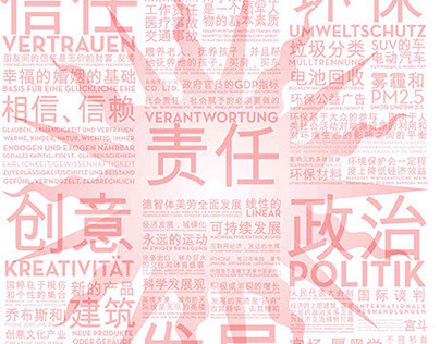 CHINESE-GERMAN COLLABORATION MAP, for LEAD, Berlin 2014
