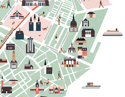 Copenhagen map illustration