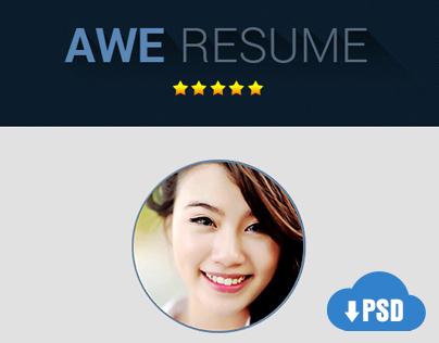 Freebie PSD Premium Resume Template