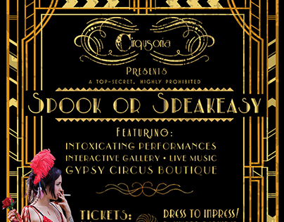 Cirqusoria's Spook or Speakeasy Flyer