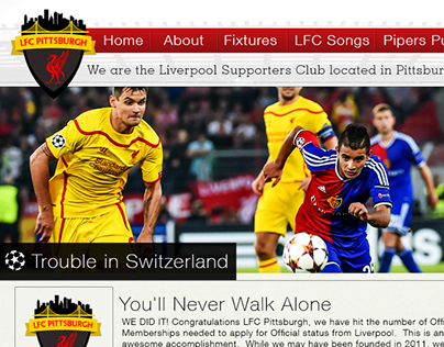 Liverpool FC Pittsburgh Supporters Group Website