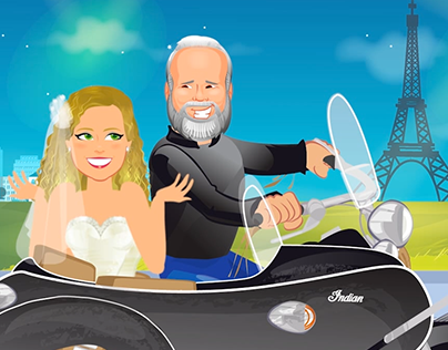 ANIMATION | Wedding Cartoon - Love Story