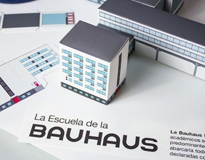 Building Bauhaus Paper Cutout