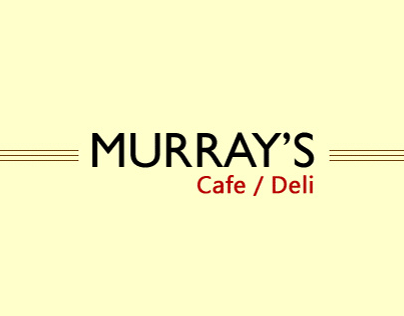 Murray's Cafe Ecommerce Site