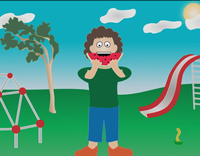 Short animation - the watermelon boy