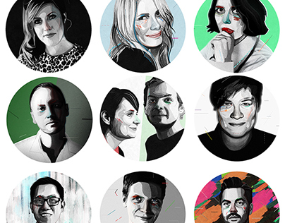 Portraits for Computer Arts UK 2014/2015