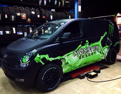 Marketing car for Monster