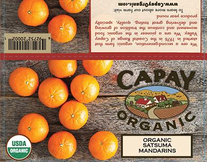CAPAY Organic 3lb. Orange Bag Label
