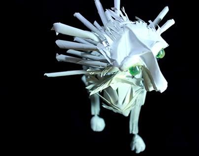 Paper Lion Puppet