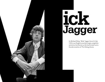 Mick Jagger Magazine spread