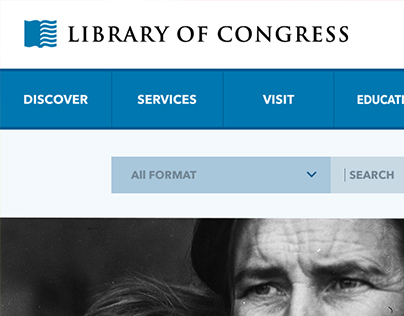 Library of Congress Website [UI Re-design]