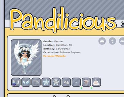 Gaia Online Profile Theme - Pandilicious