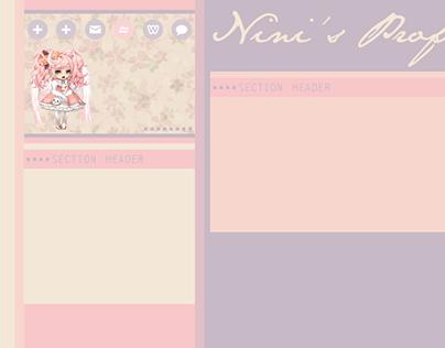 Gaia Online Profile Theme - Pastel Queen