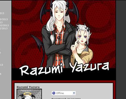 Gaia Online Profile Theme - Razumi Yazura