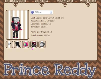 Gaia Online Profile Theme - Prince Reddy