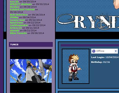 Gaia Online Profile Theme - RynDraik