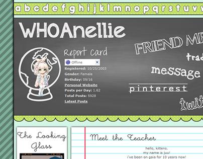 Gaia Online Profile Theme - WHOAnellie