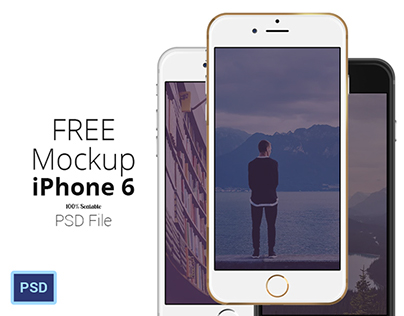 [FREE PSD] iPhone 6 - Scalable Mockups 4.7'