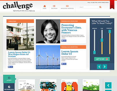 Challenge Magazine Revamp